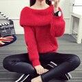 Rajó suelta la moda de las mujeres de cuello alto suéter del espesamiento femenino suéter prendas de vestir exteriores