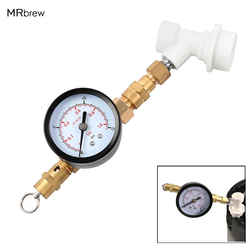 Karsts! Homebrew regulējams spiediena vārsts w / gauge ar pavedienu gāzu lodveida slēdzeni, stiprināšanas aprīkojums alus brūvēšanai