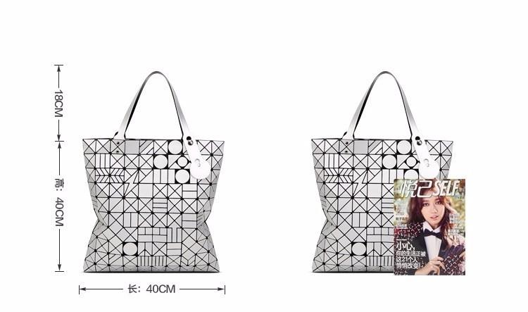 European big tote bao bao bag fashion Handbags 17 Women Hand Bag Luxury Brand Designer Geometric laser baobao Bag ladies 6