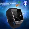 Nova zgpax s8 tela mtk6572 smart watch 1.54 polegadas android 4.4 dupla núcleo 5MP CAM 512 MB + 4 GB WiFi GPS FM MP4 Registro Telefone Smartwatch