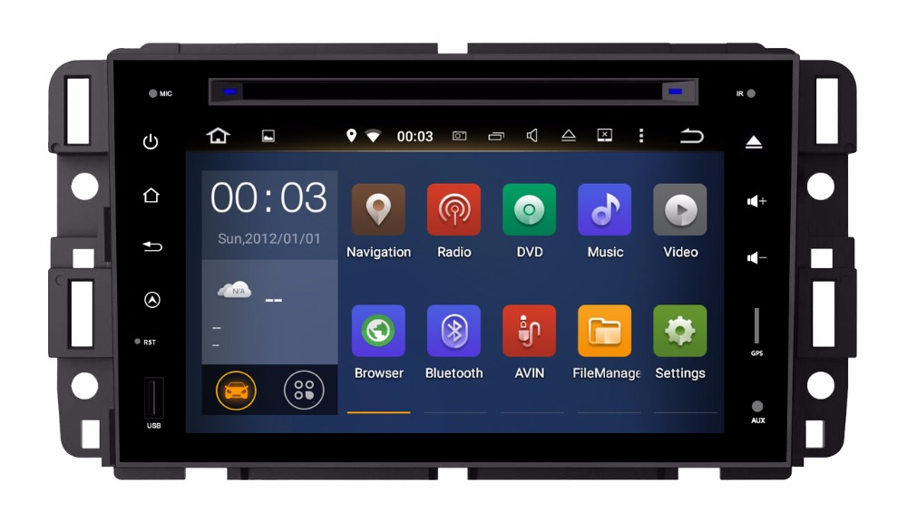RAM 2GB HD Android 9.0 Fit GMC Chevrolet Avalanche Silverado CAR DVD player Multimedia Navigation GPS RADIO AUDIO STEREO DVD MAP