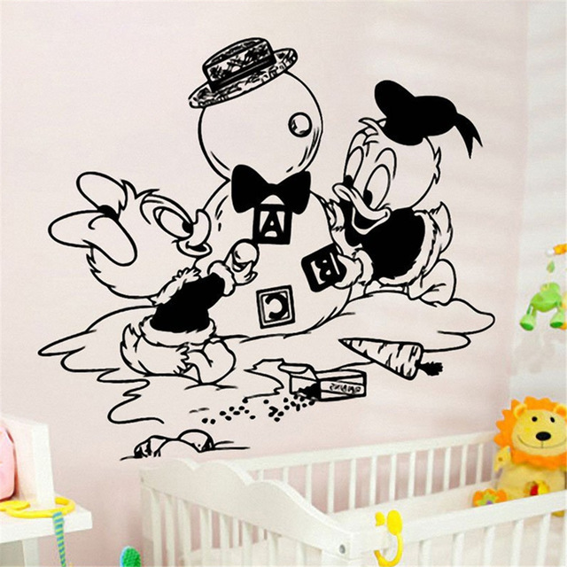 Lovely Donald Duck Baby Wall Decal Vinyl Nursery Room Home Decoration Waterproof Removable Stickers