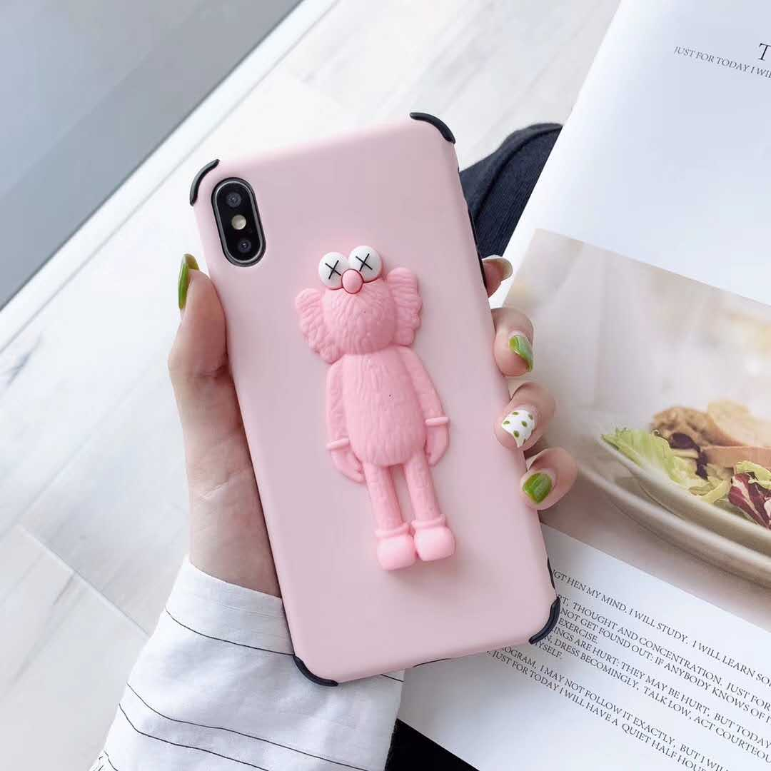 3D Cartoon Sesame Street Set phone case for Samsung Galaxy S8 S9 S8P S9P N8  N9 S10 S10P S10E cute KAWS Doll Drop Silicone Cover