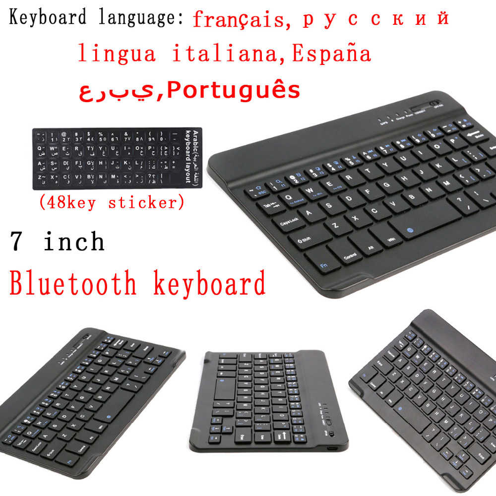 Teclado inalámbrico Bluetooth de aluminio Mini Bluetooth Universal 7 pulgadas para iPad Galaxy Tabs IOS Android Windows Tablet escritorio/