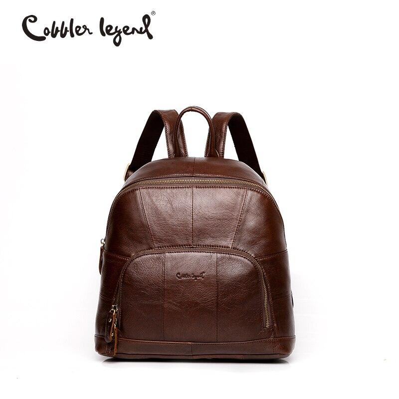 Cobbler Legend Famous Brand Women Leather Backpack Bag Vintage Small Backpack for Girls Women Backpack Mini