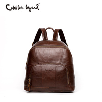 Cobbler Legend Famous Brand Women Leather Backpack Bag Vintage Small Backpack For Girls Women Backpack Mini