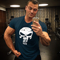 Professional hundred percent cotton men T-shirt 3D print shirt Superman / Batman Punisher T-Shirt Men's T-shirt male