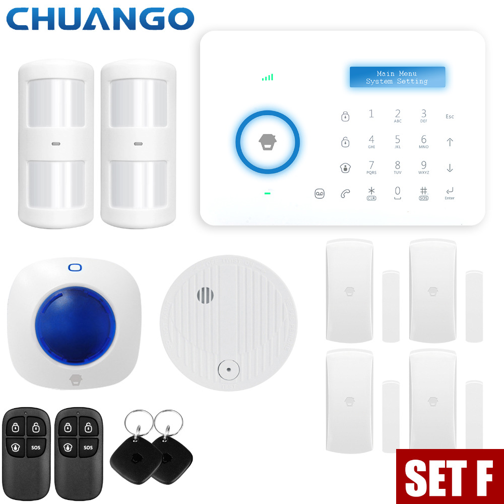 Chuango A11 PSTN font b Alarm b font System Android IOS APP Control LCD Display Smart