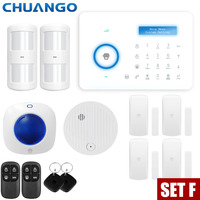 Smart PSTN Home Burglar Security Alarm System PIR Motion Detector Sensor Alarm Fire Smoke Detector Alarm