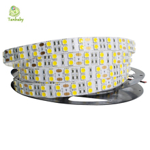 Tanbaby 5M 600led strip led SMD 5050 120 led/M Double Row  fleixble non-waterproof ribbon RGB/White/Warm  indoor decoration