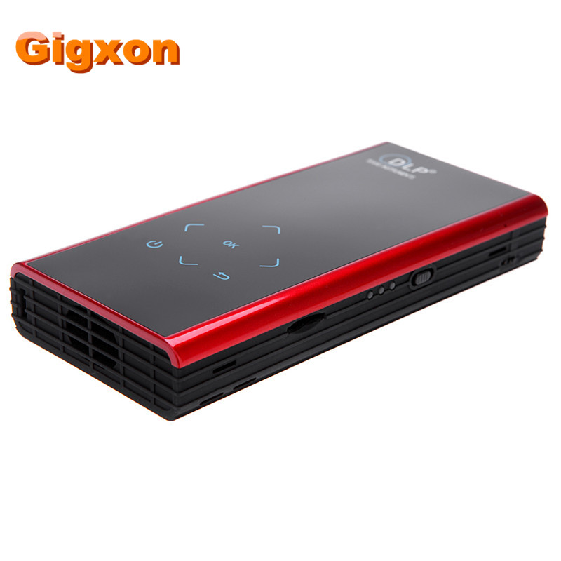 Gigxon - G06S Mini DLP LED Projector Android WiFi Miracast Bluetooth HDMI for Smart Phones home theater Portable video Projector