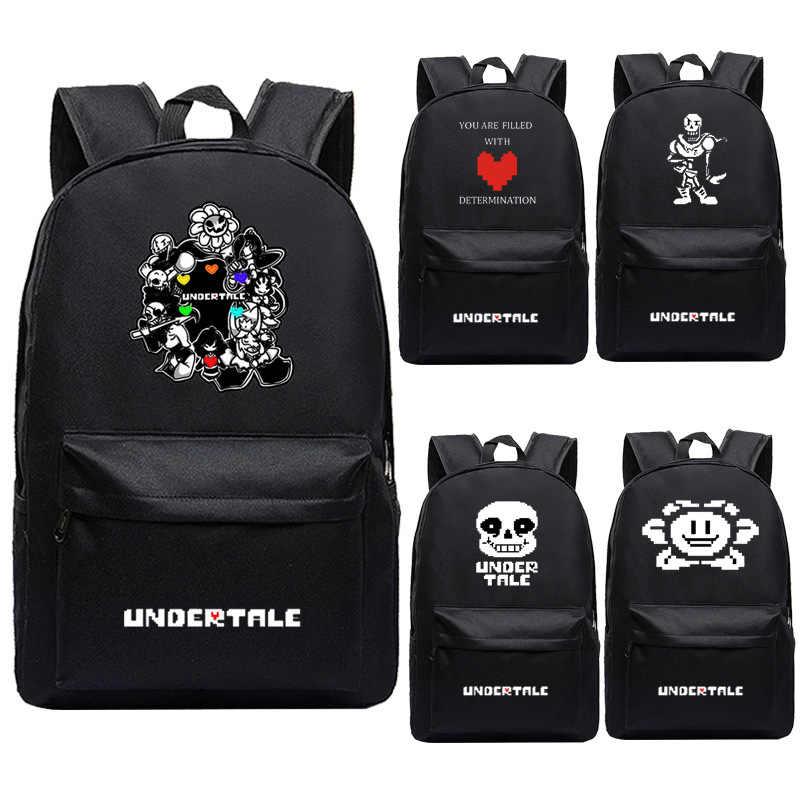 Hot Game Undertale school Travel Laptop Shoulder Packsack Backpack Student bag
