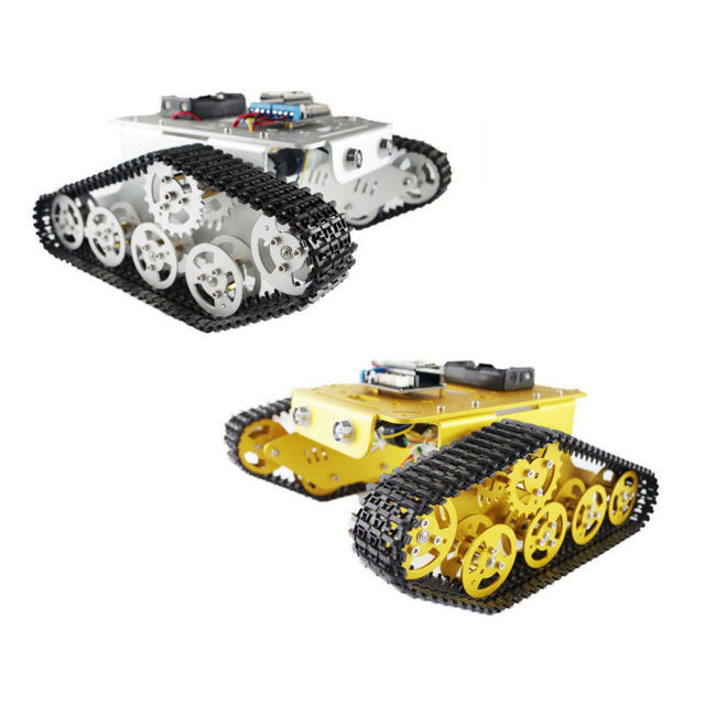 2 Colors in Stock!! DIY T300 NodeMCU Aluminum Alloy Metal Wall-E Tank Track Caterpillar Chassis Smart Robot Kit Free Shipping