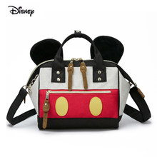 Disney Mickey Donald Duck Mommy bag small diaper bag big opening crossbody bag mother mom handbag for babies nappy backpack(China)