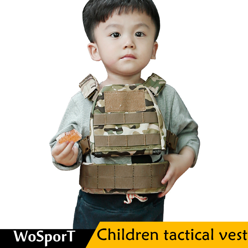 WoSport Military Children Hunting Vests 1000D Oxford cloth CS War Field Game Shooting Protective multicolor JPC Hunting Vest