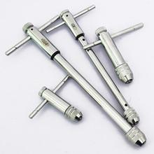 цена на Adjustable M3-8 M5-12  T-Handle Ratchet Tap Wrench with M3-M8 Machine Screw Thread Metric Plug Tap Machinist Tool
