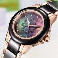 Precio Reloj De señora CADISEN, reloj De pulsera De cerámica De lujo para mujer con nombre De marca superior, reloj De cuarzo para mujer, relojes femeninos