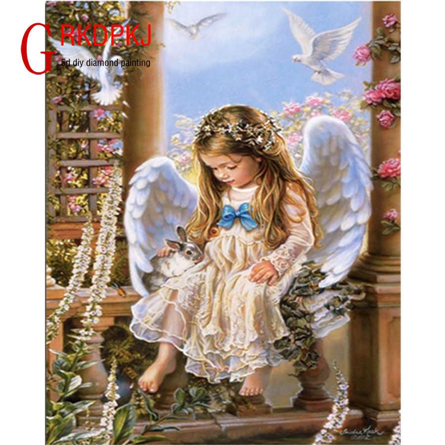 Голубь ангел кролик 5D DIY Алмазная картина Свадебные украшения Стразы для вышивки картина украшение дома вышивка крестиком