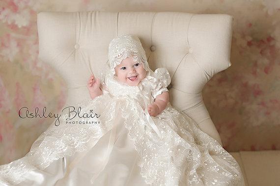 Nieuwe baby baby doopkleedjes doopjurk baby meisje jongen feestjurk - Babykleding - Foto 3