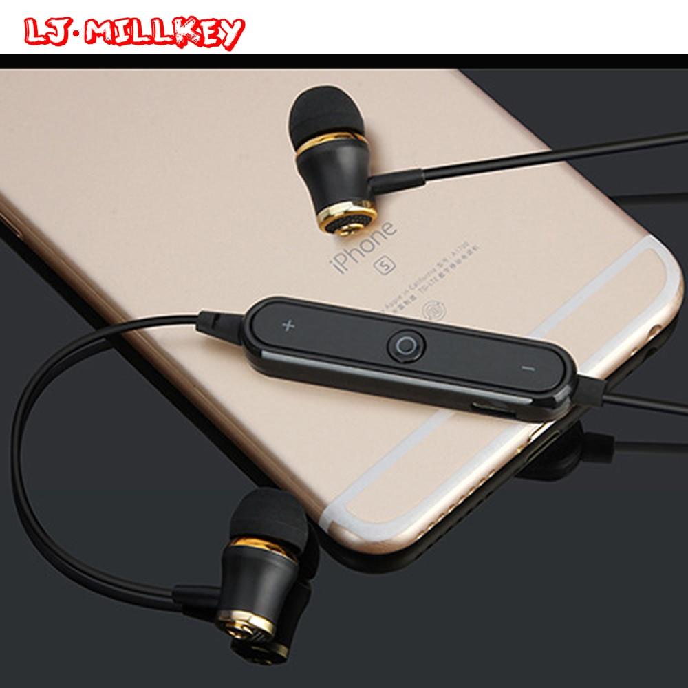S6 Wireless Bluetooth V4.1 Earphones Fone De Ouvido Stereo Sports Bluetooth Headset Earbuds Sweatproof LJ-MILLKEY LZ001