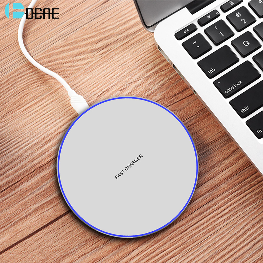 Fdgao QI Wireless Charger Pad 10W USB Quick Fast Wireless Charging Dock for iPhone XS Max XR X 8