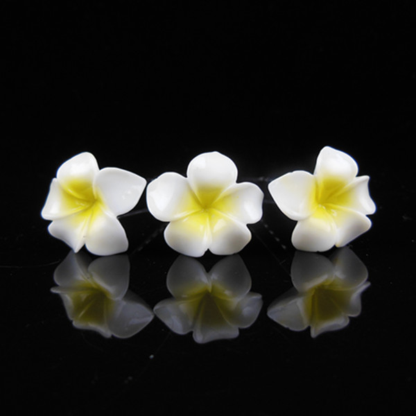 Hawaiian Wedding Hairstyles: 100 Pcs White Hawaiian Plumeria Flower Wedding Prom Bridal