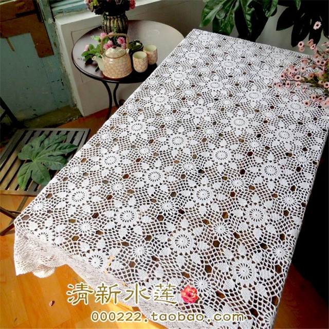 Free Shipping 2014 New Zakka Cotton Crochet Lace Tablecloth For Home