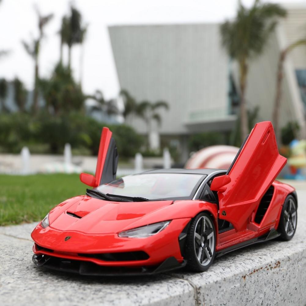 Nouvelle Arrivée Enfants de 1:18 Lamborghini LP770-4 Modèle De Voiture De Sport Voiture Jouet Vente Chaude Simulé Alliage De Voiture Jouet Pour La Maison décoration