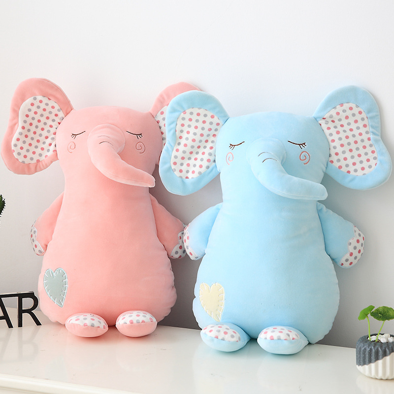 New Soft Elephant Figurine Baby Comfort Like Plush Doll Children Birthday Gift Toys for Children PP Cotton Kawaii Fashion Toy