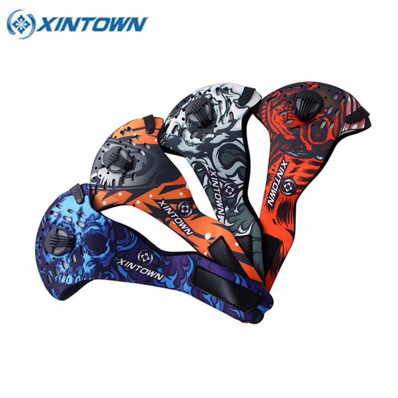 XINTOWN Winddicht Fietsen Masker Winter Anti-stof Mond-Moffel Masker Running Skiën Anti-Vervuiling Maskers Fiets Gezicht masker