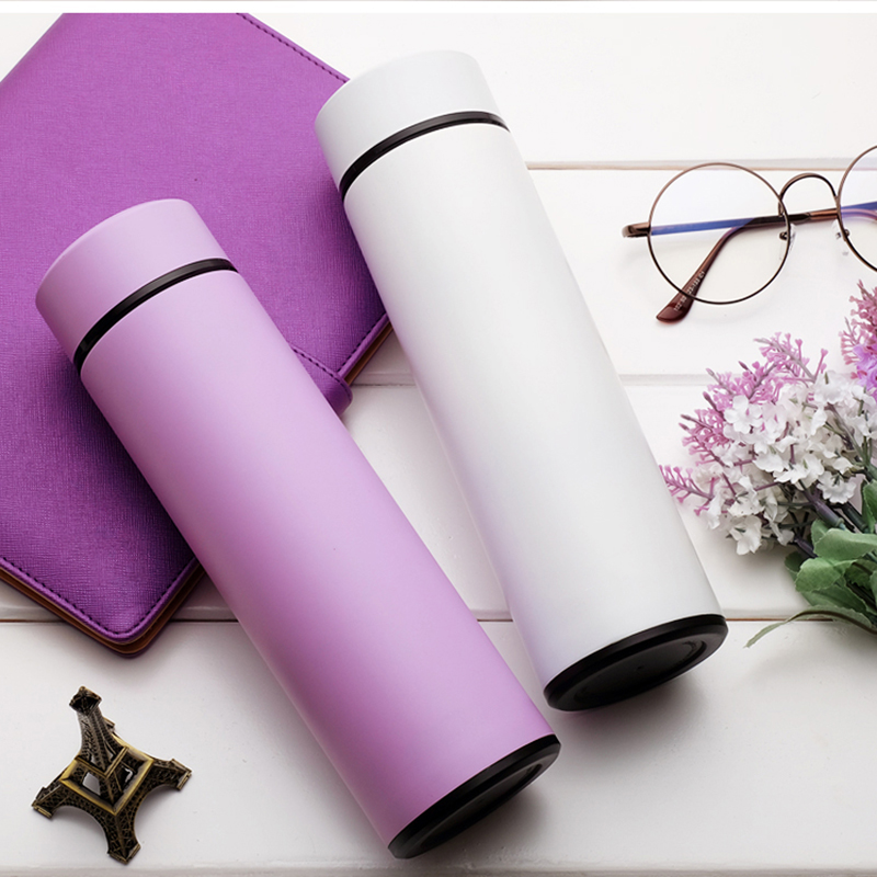 304 Stainless Steel Water Bottle 500ml Vacuum Flask Bottle Insulated Water Bottle Sport Outdoor Travel Equipped Multiple Colors