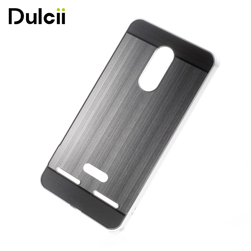 DULCII Capa for Lenovo K6 Power Cases Slide-on Brushed PC Plate + Metal Bumper Combo Phone Cover for Lenovo K 6 Power Bag Coque