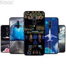 Aircraft Plane Airplane Silicone Case for Oneplus 7 7Pro 5T 6 6T Black Soft Case for Oneplus 7 7 Pro TPU Phone Cover
