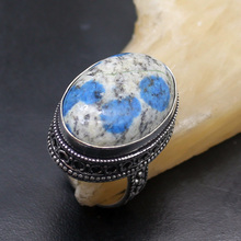 Fabulous Ladies 925 Sterling Silver Natural Sea Sediment Romantic Open Ring Size 7 NY1039 Free Shipping