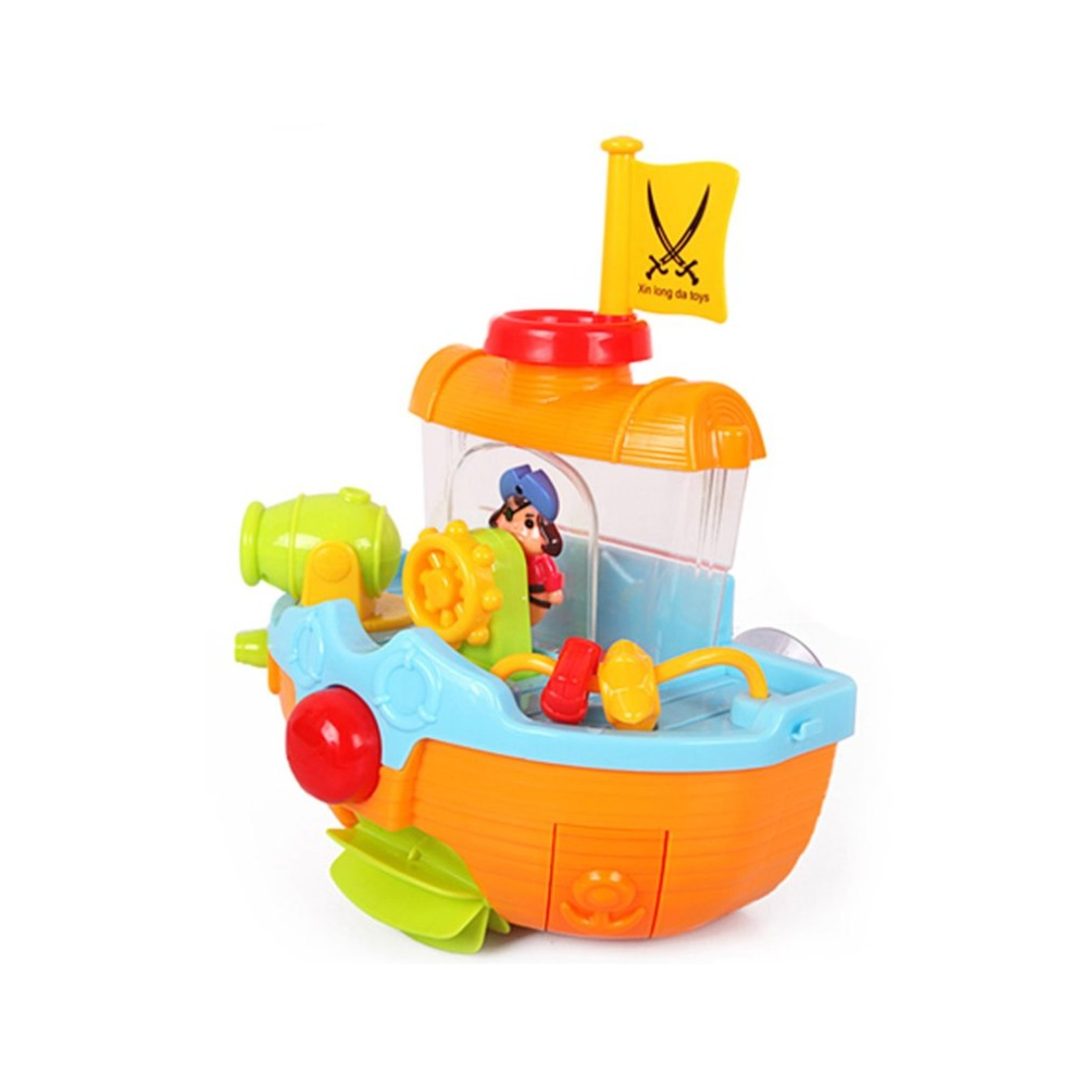 Baby Cute Lovely Pirate Ship Bath Tub Toy Bathtub Bath Toys Bathtime ...