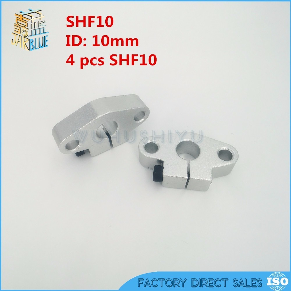 цены 4pcs/lot Free shipping SHF10 10mm shaft support  linear rail support CNC Router XYZ