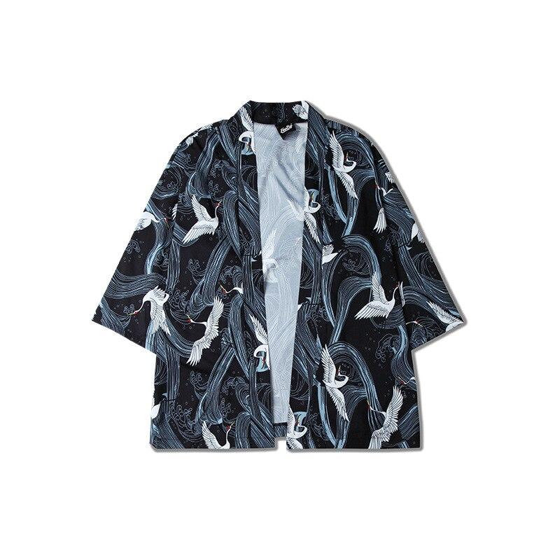 Bescheiden Mannen Kimono Vest Korte Mouw Jas Mannelijke 2018 Zomer Nieuwe Street Fashion Hip Hop Casual Losse Shirt Jas Dunne Overjas