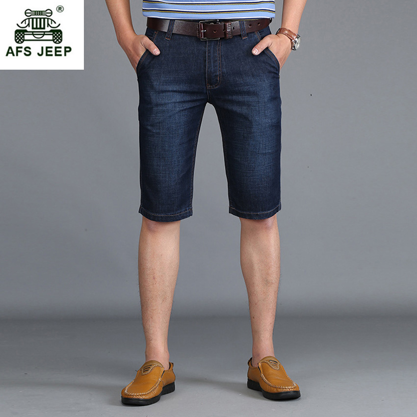 Men Casual Demin Shorts 2017 New Style Summer Breathable Knee-length Fashion Loose Jean Shorts Plus Size 29-42 68wy ...