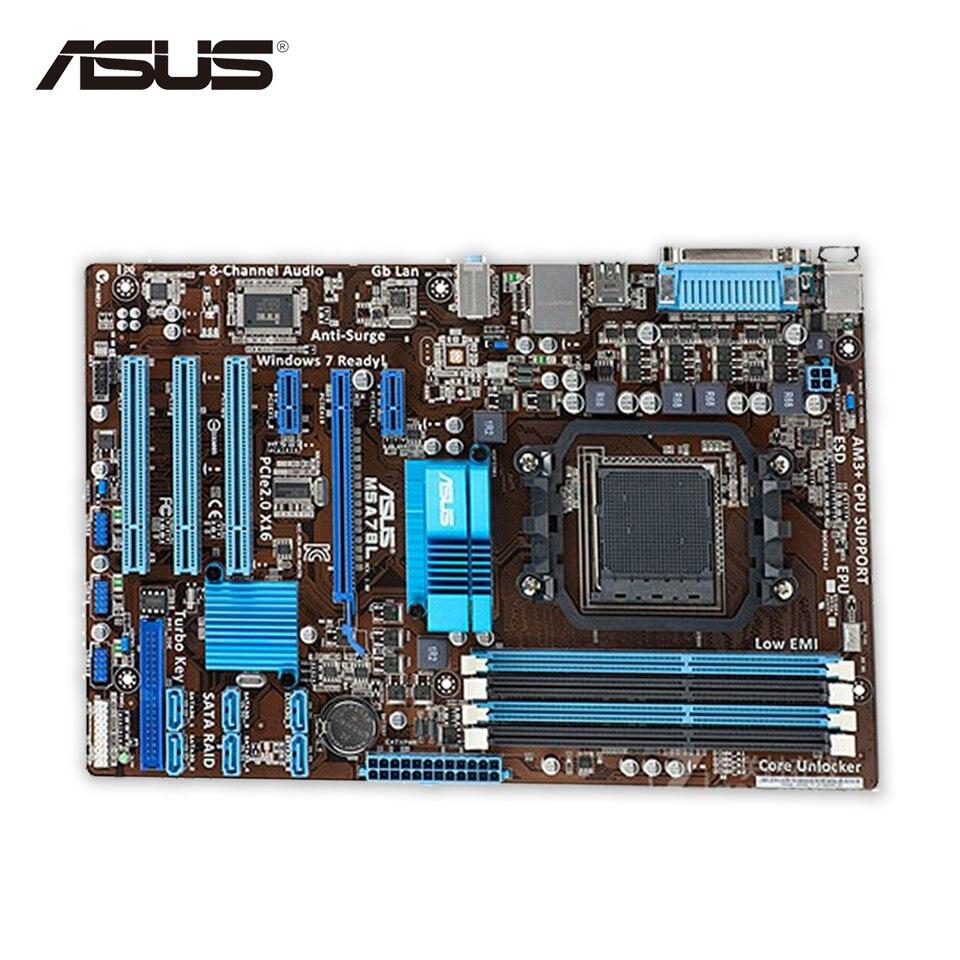 Asus M5A78L Original Used Desktop Motherboard 760G Socket AM3+ DDR3 16G SATA2 USB2.0 ATX asus m4a77td original used desktop motherboard 770 socket am3 ddr3 16gb sata ii usb2 0 atx