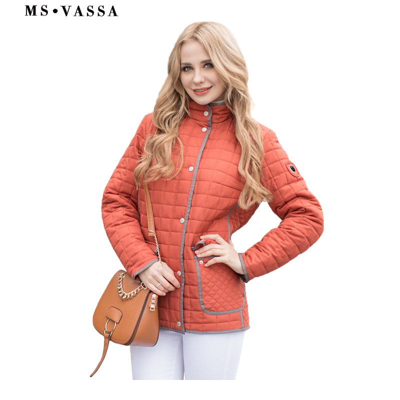 MS VASSA Damen Jacken 2018 Neue Frauen Herbst Winter Mäntel Plus größe 6XL 7XL lange hülse drehen unten kragen oversize oberbekleidung-in Basic Jacken aus Damenbekleidung bei  Gruppe 1