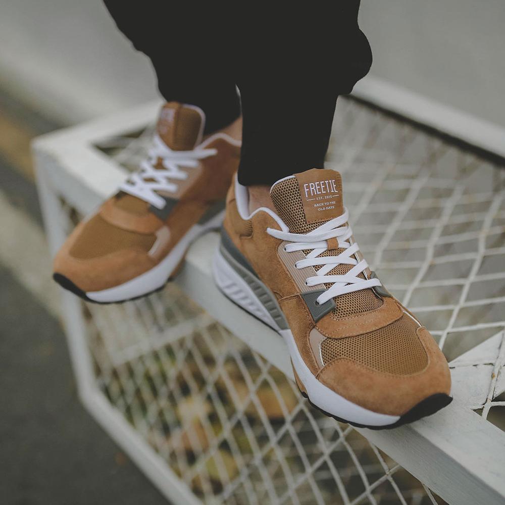 Chaussures de sport rétro d'origine Xiaomi Mijia FREETIE chaussures de course respirantes portables confortables surface nette haute élasticité pour hommes - 3