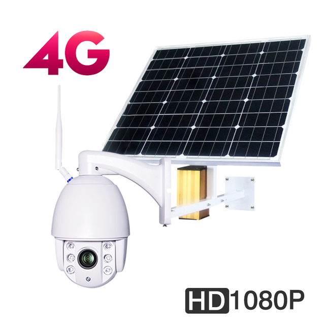 Solar 3g 4g Wireless Hd 1080p Wifi Ptz Camera Security