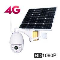 Solar 3G 4G Wireless HD 1080P WiFi PTZ Camera Security Outdoor IP camera CCTV Waterproof 5x Zoom Surveillance Camera 32GB Card