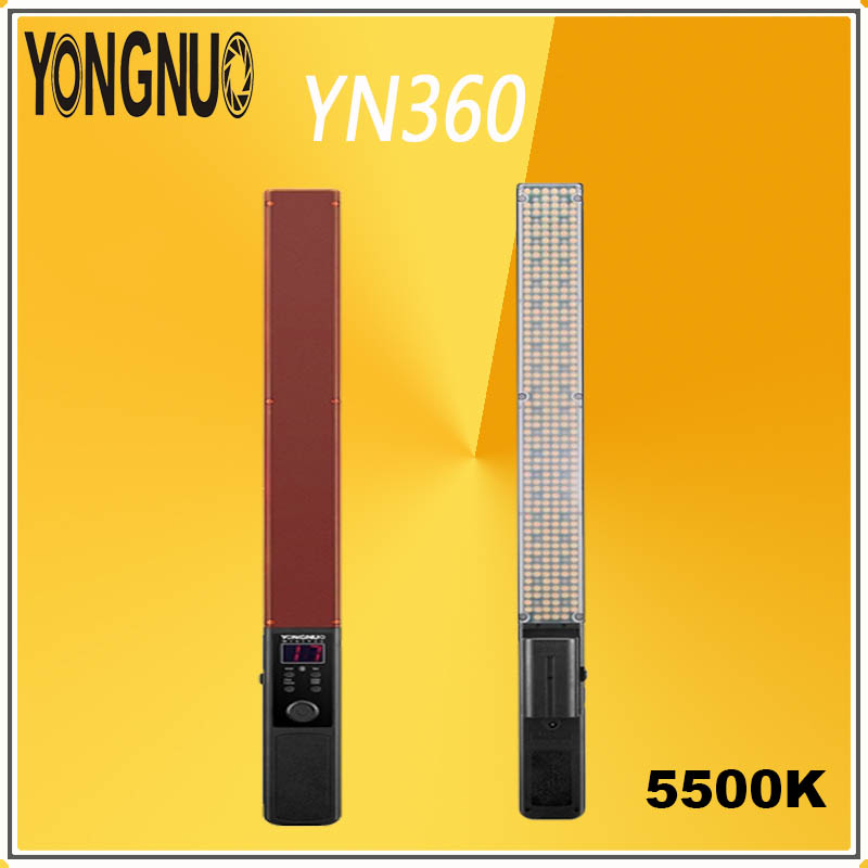 YONGNUO YN360 Handheld 360 LED Video Light RGB Colorful 39.5CM 5500K Ice Stick Copious Professional Photo LED light YN 360 wandYONGNUO YN360 Handheld 360 LED Video Light RGB Colorful 39.5CM 5500K Ice Stick Copious Professional Photo LED light YN 360 wand