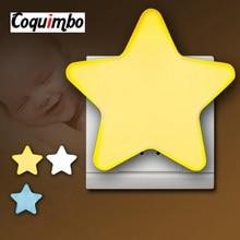 EU/Us stecker Baby Lampe Schlaf Licht Sensor Control Mini Star LED Nacht Licht Buchse Für kinder Schlafzimmer nacht Lampe