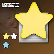 ЕС/США Plug ночник детский Детская лампа спальный свет сенсор управление мини светодио дный звезда светодиодный ночник гнездо для детская спальня ночники светильник