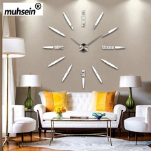 130 Cm Factory 2019 Wall Clock Acrylic+EVR+Metal Mirror Super Big Personalized Digital Watches Clocks Hot DIY Free Shipping