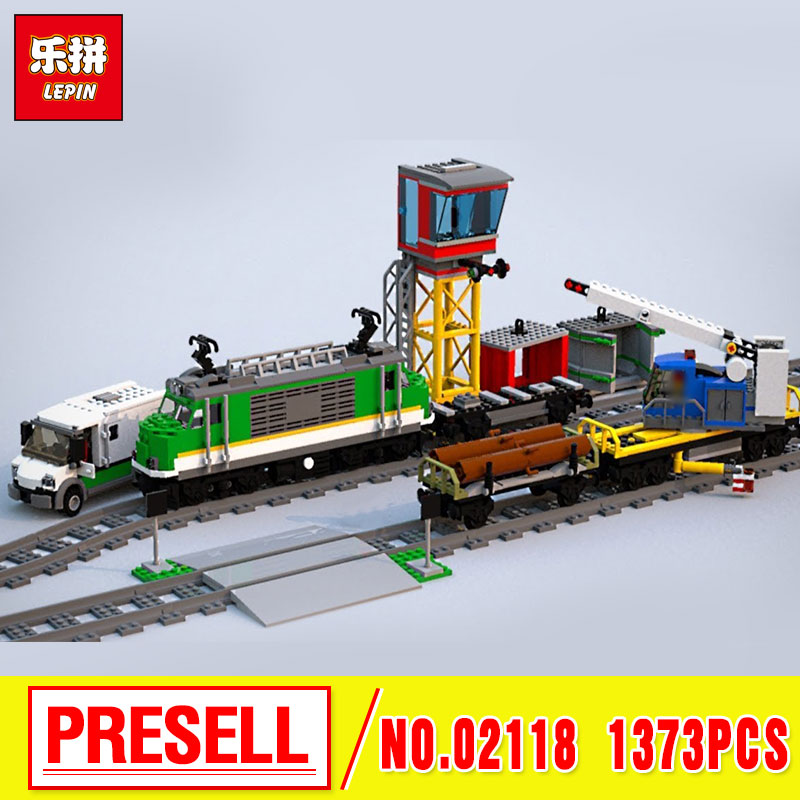 Lepin 02118 City Toys Series The 60198 Cargo Train Set Building Blocks Bricks New Car Model Kids Toys As Birthday Christmas Gift