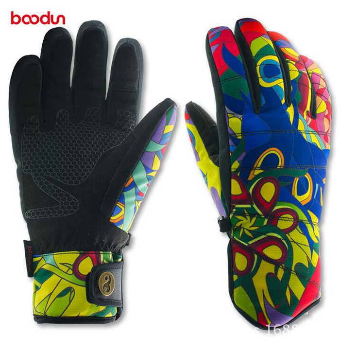 Boodun Winter Outdoor Sports Women Windproof Waterproof Warm Cycling Ski Snow Snowmobile Motorcycle Snowboard Skiing Gloves
