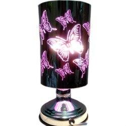 Żonaty prezent urodzinowy trójwymiarowy motyl ściemnianie lampa aromaterapia kominek do aromaterapii lampka do sypialni podłącz w nocy
